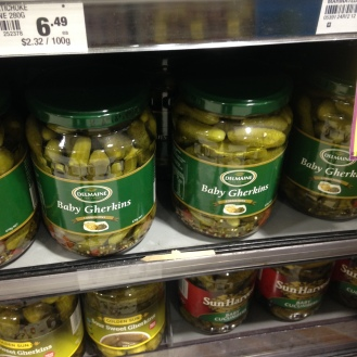 They call pickles 'Gherkins'