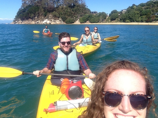 Kayak group selfie