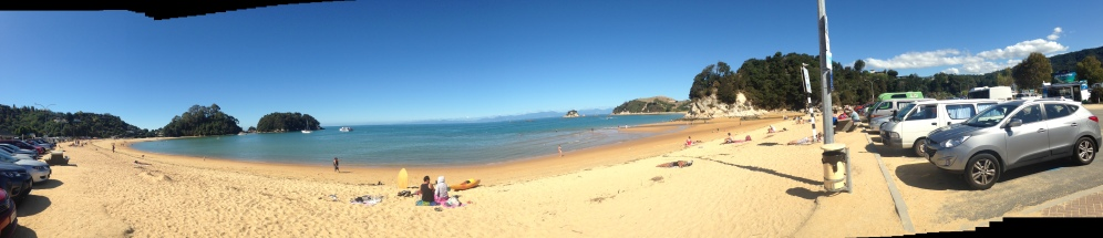 View of the Kaiteriteri beach