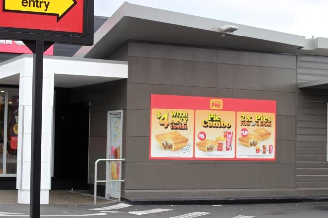MacDonalds sells meat pies instead of sweet pies