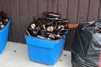 What most recycling bins looked like after a Saturday night at Otago