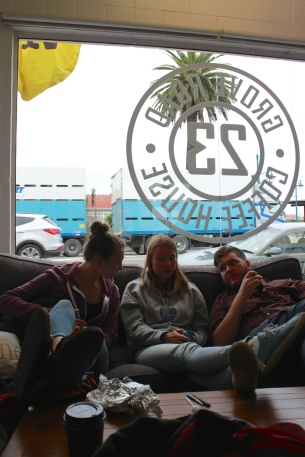 Chillin at a coffee shop in Blenheim