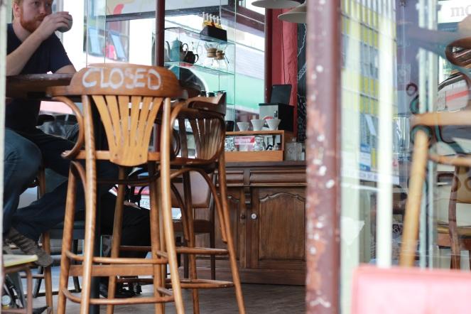 Coffee shop tourists
