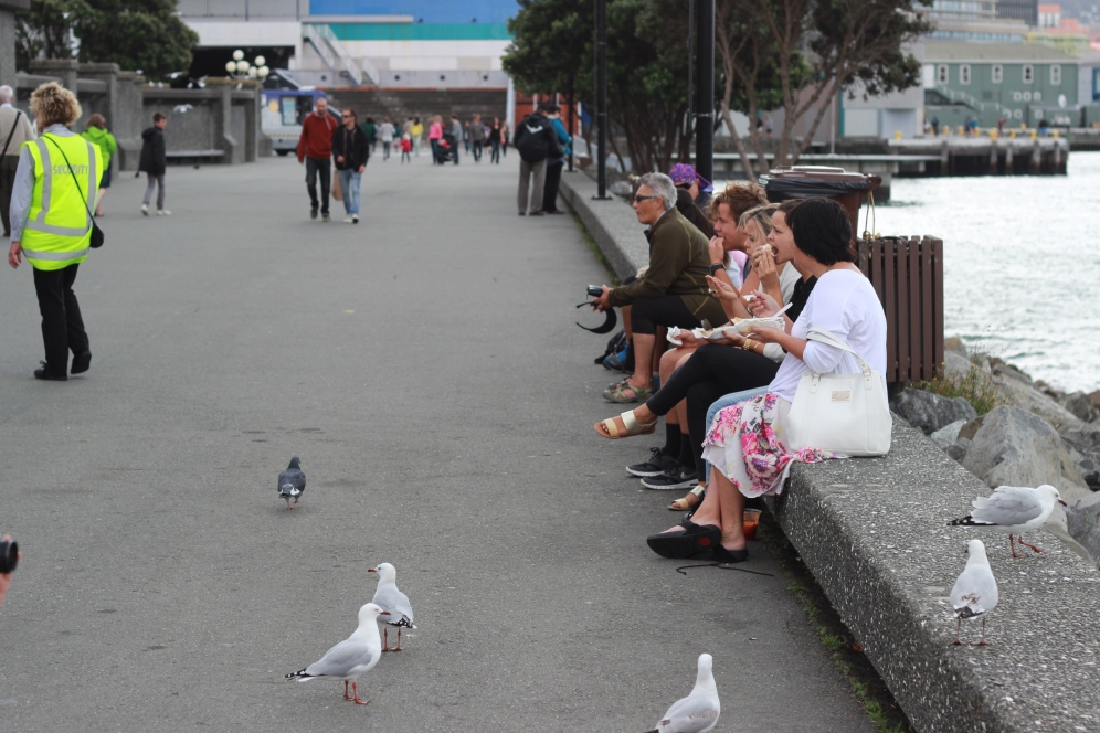People enjoying