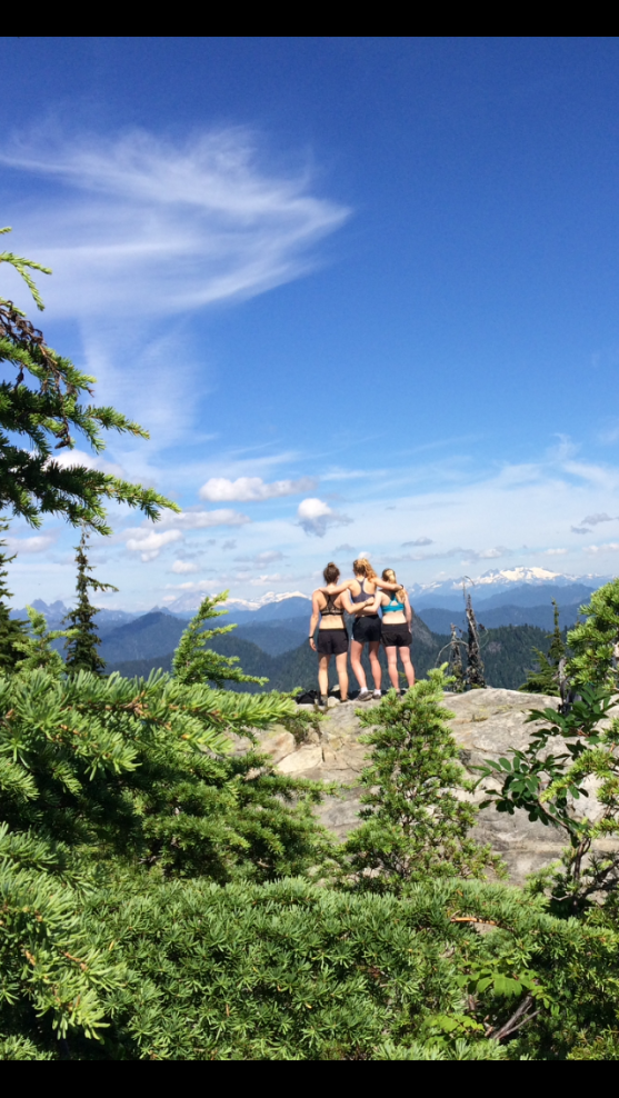 Michelle, Maggie and I on Goat Mountain