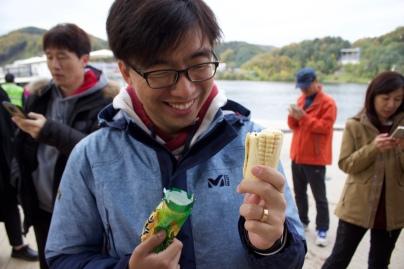 Corn shaped ice cream